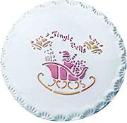 PME YT400 Jingle Bells Stencil per Cake Design,