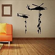 Ponana Army Soldier Helicopter Wall Stickers Per