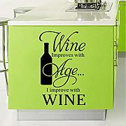 Ponana Wine Quote Words Wall Sticker Art
