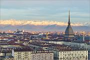 Poster 30 x 20 cm: Turin (Torino) City Skyline at