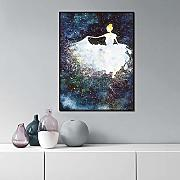 Poster Tela Wall Art Style Abstract Ballet Girl