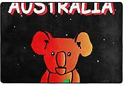 Pray for Australia Bagno Decor Mat,Tappetino