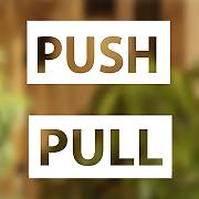 Pull Push Door Stickers vetrina Salone Bar Cafe