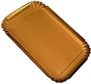 PZ 100 VASSOIO IN CARTA COLOR ORO CM 17 X 25 IDEALE PER DOLCI TRAY GOLD PAPER IN CARTONE ALIMENTARE
