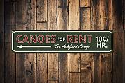 qidushop Canoe for Rent Sign Personalized Arrow