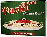 qidushop placca Cucina Pasta Metal Sign for Home