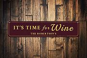 qidushop Time for Wine Sign Personalized Family
