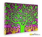 Quadro - Keith Haring - The Tree of Life - Stampa