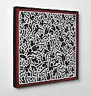 Quadro Keith Haring Untitled 1985 Stampa Fine Art