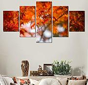 Quadro su Tela Fliselina Moderno Autumn Forest Red
