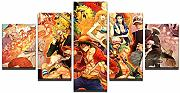 Quadro su Tela One Piece Film Gold 5 Pezzi Stampa