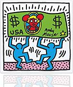 Quadro tributo Andy Mouse by Keith Haring - Arredo