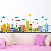 Qwerlp Modern City Building Wall Stickers