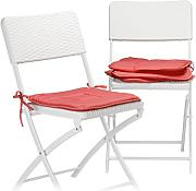 Relaxdays Cuscini, set da 4, rosso scuro
