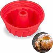 /Ø 25 cm Antiaderente Relaxdays Acciaio al Carbonio Nero Stampo a Spirale per Ciambellone per Torte /& Dolci Rotondi