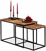 Tavolo da Divano per Soggiorno Relaxdays 10023330/_469 Tavolino da Salotto Rotondo in Metallo Bianco-Nero Altezza 42 cm