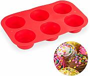 Relaxdays Teglia per Muffin, in Silicone, 6