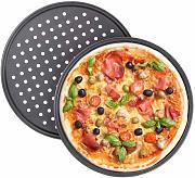 Acciaio al Carbonio Set da 2 Antiaderente per Crostate WENTS Stampo Pizza Forato /ø 32 cm Teglia per Pizza Rotonda Forata