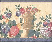 Retro Art Prepasted Wallpaper Border - Distressed