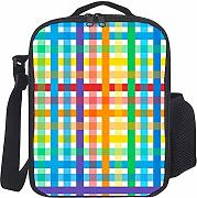Reusable Lunch bag Seamless Colorful Plaid Pattern