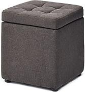 RFJJ Footstool Storage Box Cube Pouffe Change