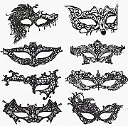 VOSAREA Maschere Veneziane in Maschera per Donna Copertina in Pizzo Nero per La Festa in Costume di Carnevale di Halloween