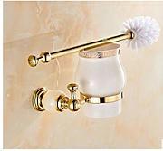 Cikuso Creativo a Forma di Albero Set di spazzole Bagno Rimovibile Bagno WC scopino spazzolino Giallo