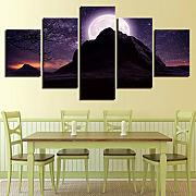 Room decoration night view canvas painting