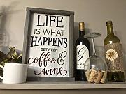Rummy Life is What Happens Between Coffee And Wine