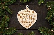 Rummy Personalizzato Mr Mrs Ornament Our First