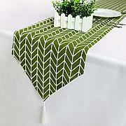 Runner per Tavola,Nordic Green Table Runner