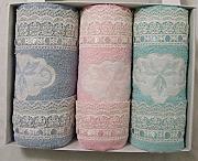 Set Asciugamani Spugna 3+3 Viso E Ospite Sommaruga Foglie Vari Colori Bagno: Accessori E Tessuti