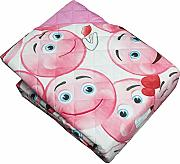Russo Tessuti Accappatoio Nido dApe IRGE Kids 100/% Cotone Cappuccio Bimba BIMBO-Rosa-6//8 Anni