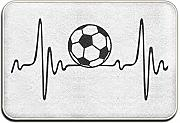 rwwrewre Cushion Soccer Heart Beat Outings