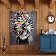 SADHAF Donna africana Wall Art Portrait Home Decor