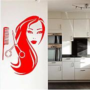 Salon Girl Beautiful Hair Barbershop Spa Wall