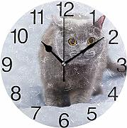 sam-shop British Shorthair Cat Design Orologio da