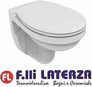 Senza Sedile Bianco Ideal Standard Ceramica Dolomite Serie Gemma 2 Vaso monoblocco Scarico a Parete Bianc Art.J522701 A Magazzino