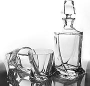 Set di quadro Bohemia decanter e 4 bicchieri da