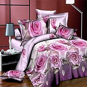 SGHAGR 3D Rosa Fiore a Due Letti Queen King Size