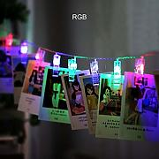 Shiny Luce natalizia, 1.5m 2m 3m LED Photo clip
