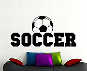 Soccer Wall Sticker Football Decal Decorazioni per