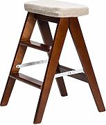 Solid Wood 3 Step Ladder High Sgabello