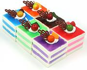 SOUSURER 6color Realistico Cake artificiale