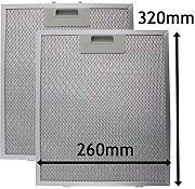 RETE filtro anti grasso per Electrolux Moffat Zanussi Cappa 320 x 260mm