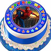 Spiderman Happy Birthday Birthday pretagliato