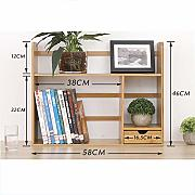 ssok shelf Naturale bambù Desktop libreria Rack