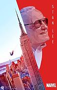 Stan Lee poster padre di Marvel Spiderman e stampe
