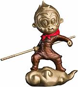 Statuetta Scultura Rame Monkey King Office Home