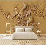 Stile Europeo 3D Stereoscopico Golden Elk Deer